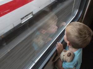 Digitale billeder jernbanemotiv 03 Bronze Kurt JeppesenTobias og ICE
