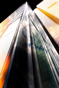 Farvepapir frit motiv 02 Sølv René Jensen Colorful skyscraper
